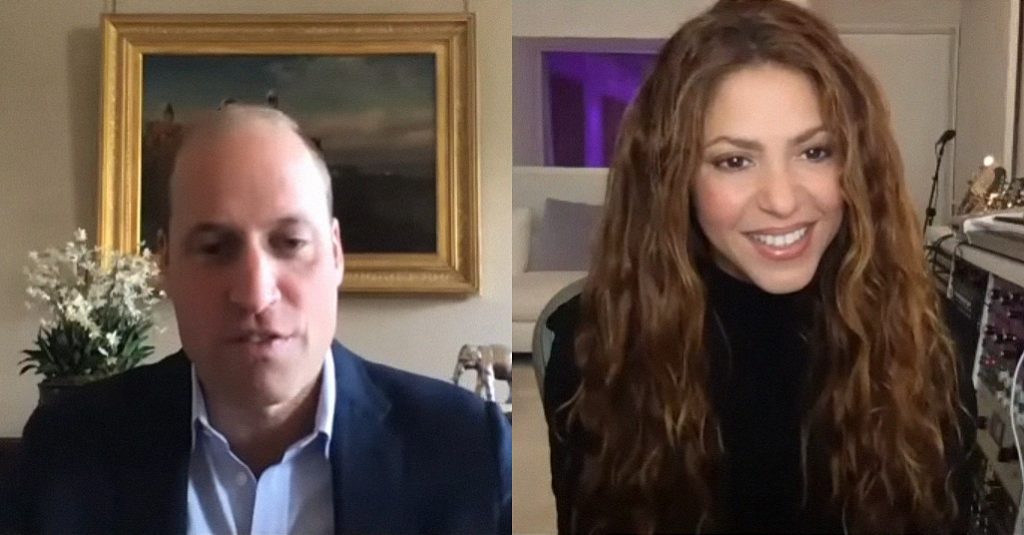 Η Shakira συζητά με τον πρίγκιπα William για την κλιματική αλλαγή