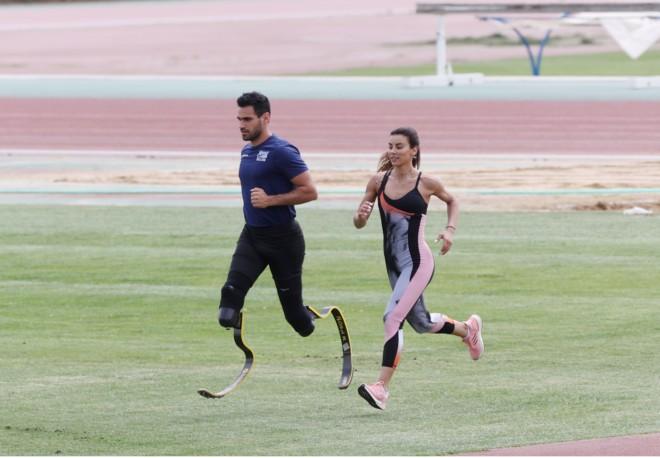 Έτρεξε παρέα με τον καλό της φίλο και Παραολυμπιονίκη Γιάννη Σεβδιλάκη