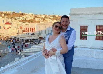 Γρηγόρης Μπιθικώτσης - Ελένη Τσιριγκάκη: Παντρεύτηκαν στη Μύκονο