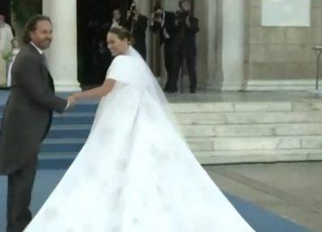 Φίλιππος - Νίνα Φλορ: Η άφιξη του ζευγαριού στη Μητρόπολη Αθηνών